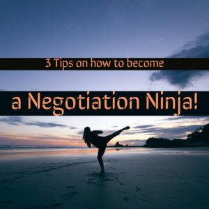 tips on negotiation from StudyOnline.ie